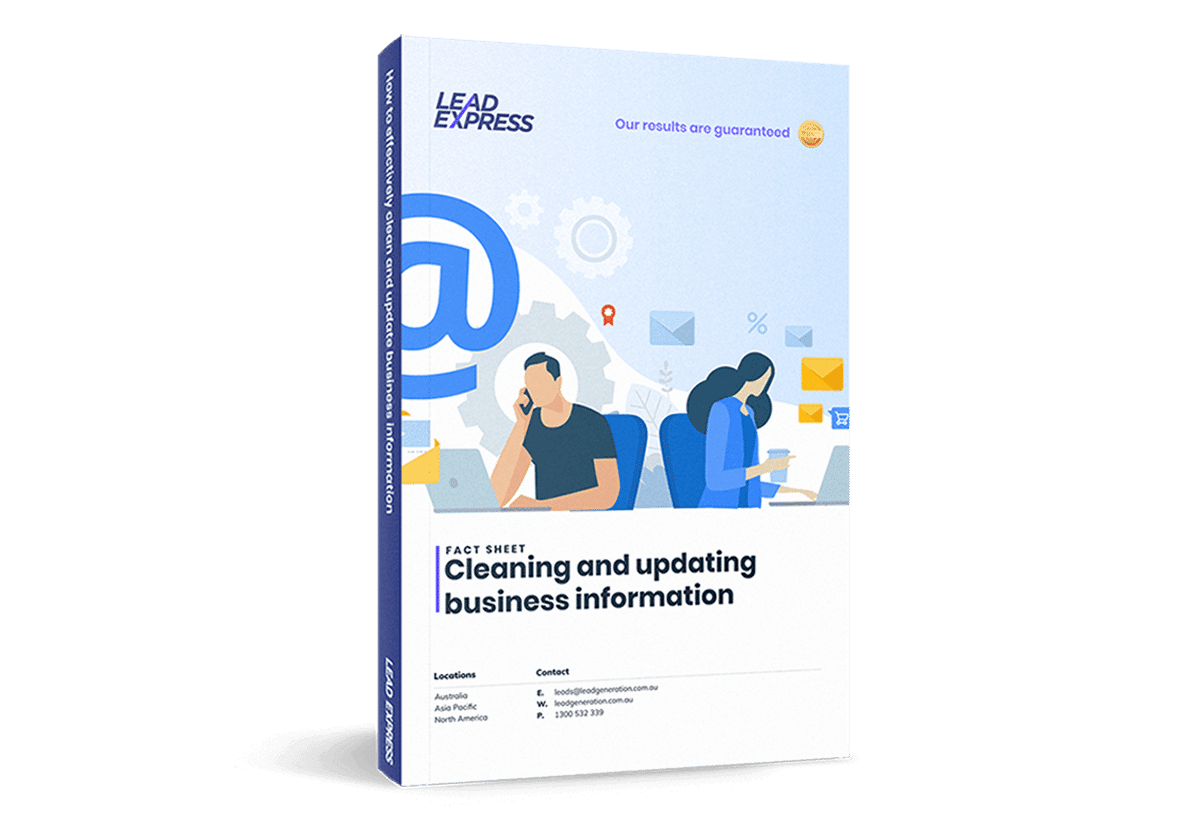 Book cover - Cleaning and updating business information
